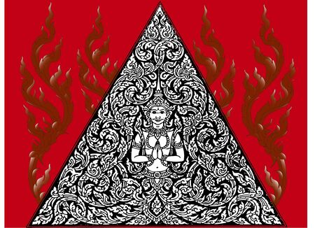line thai: Thailand Room triangle pattern Illustration