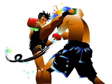 thai kick boxing: thai boxing art