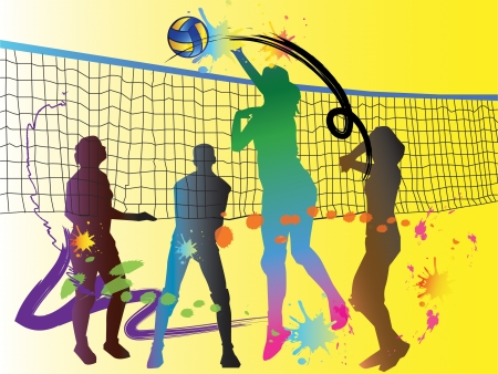 action sports: volleyball sport