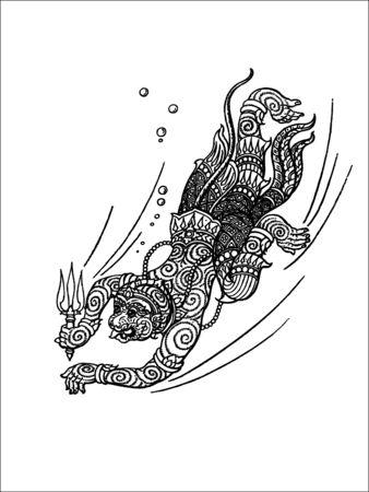 hanuman: art Illustration