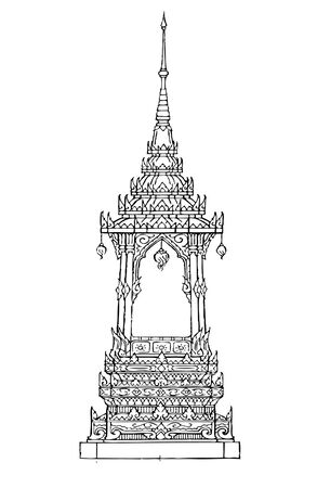 Architecture Thai Art Illustration