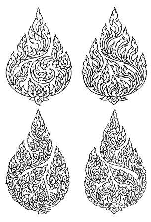 art pattern line thai Illustration