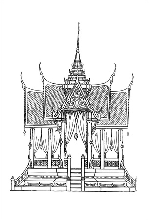 pavilion: pavilion of the king Illustration