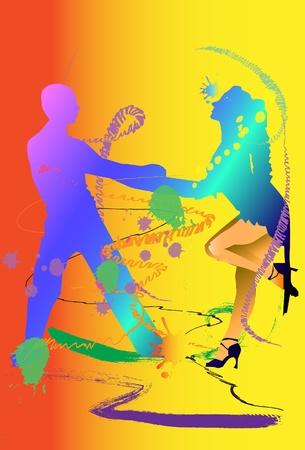 サルサ: ダンサーのデザイン  イラスト・ベクター素材