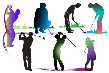 country club: pattern golf art Illustration