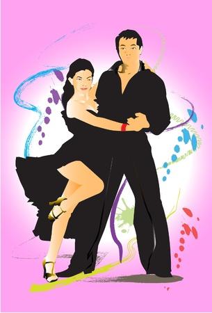 bailarines de salsa: mostrar cepillo danza