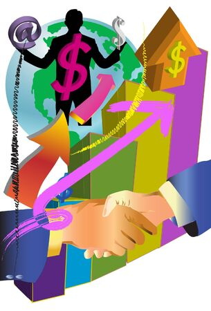 business make money Stock Vector - 18094211