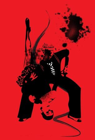 argentina dance: dancer danger Illustration