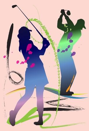 golf swing art