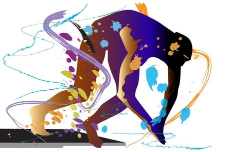 sport swimming Illustration