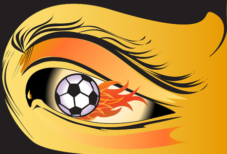 eyes fire Vector