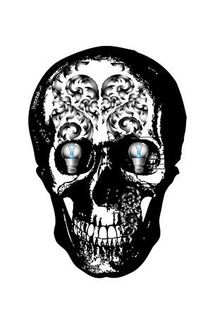 dark skulls Vector