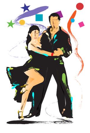 dancers art  Vector