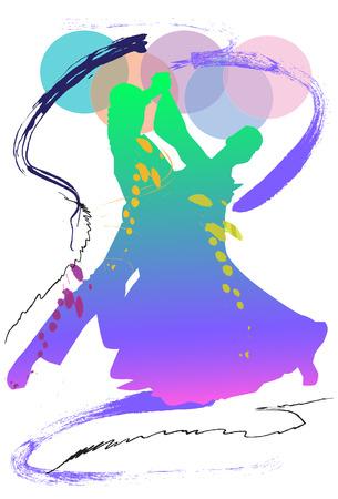 De dansers van de kunst borstel