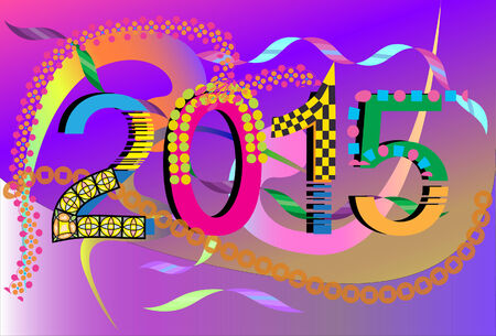 new years: number new years Illustration