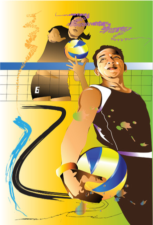 action sports: volleyball action sports