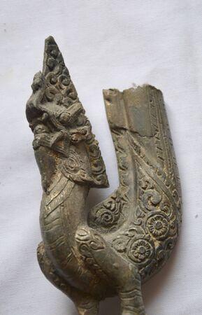 bronz: art and naga in Thailand Stock Photo
