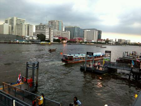 view: River view in Bangkok Thailand