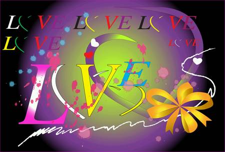 design: Love heart design Stock Photo