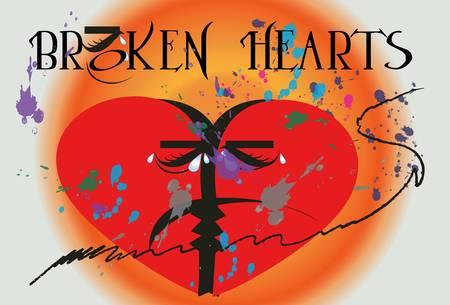 eye: Love broken heart