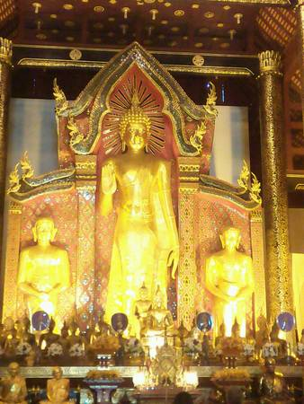 gold: Buddha gold sculpture in Thailand Stock Photo