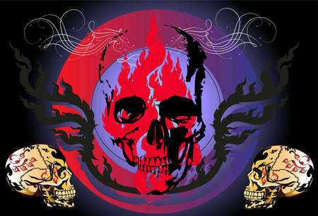style: Skull dead style Thai art