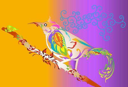 design: Bird design patterns Thai Stock Photo