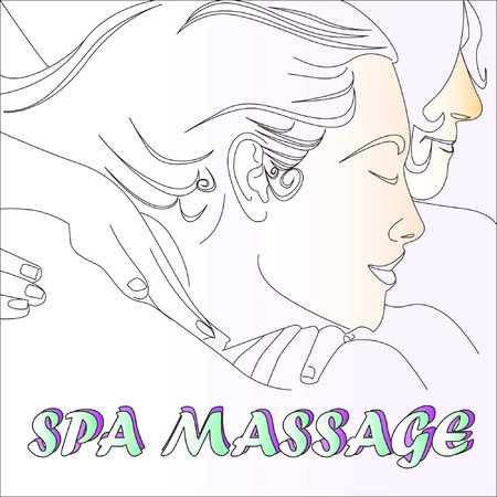 spa art sketch massage Thai