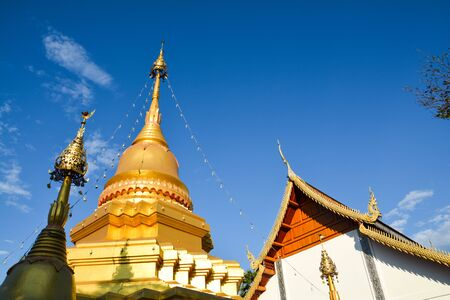 architecture temple beauty in north Thailand Stock Photo