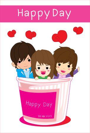 blissful: Happy Day Illustration
