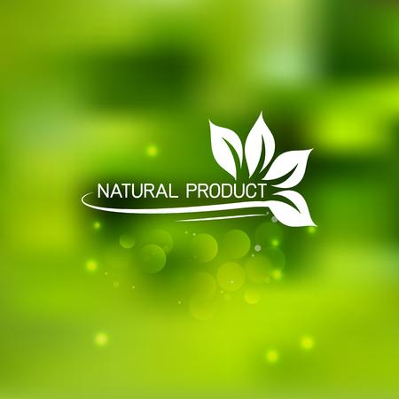 自然な背景の新鮮な緑の葉。