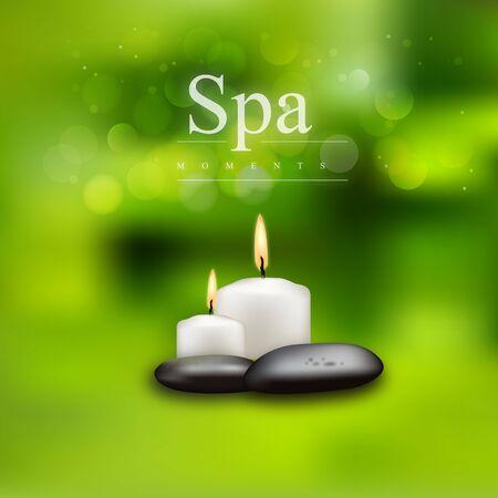 Modèle de spa, de soins de santé et de beauté pour spa, illustration vectorielle.