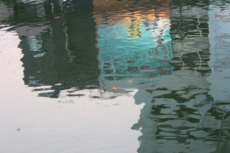 penumbra: Amazing shadow in the water  Stock Photo