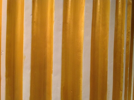 gold: Beautiful and amazing gold pillar in a hotel Stock Photo