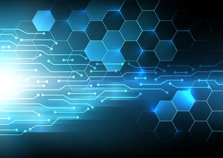 電気回路デジタル抽象的な背景、未来のコンセプト ベクトル イリュー ジョン  イラスト・ベクター素材
