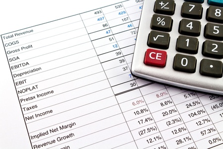 Financial reports with calculator photo