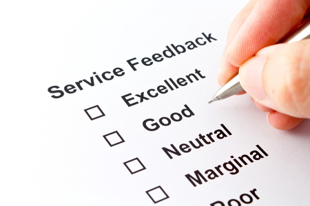 service feedback evaluation isolated over white  photo