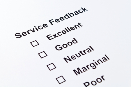 service feedback isolated over white  photo