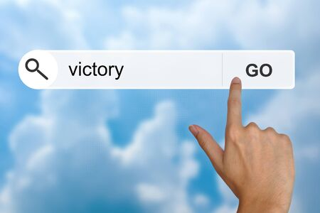 victory button on search toolbar photo