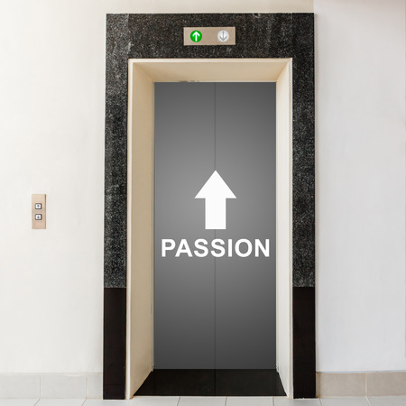 elevator with way to passion, business conceptual photo