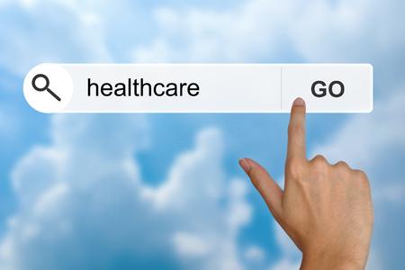 toolbar: pulsante di assistenza sanitaria nella barra degli strumenti di ricerca