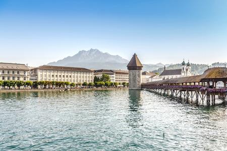Chapel Bridge or Kapellbrucke in Lucerne, Switzerland, Europe photo