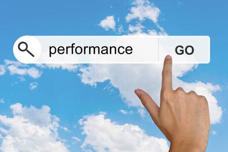 toolbar: Pulsante prestazioni nella barra degli strumenti di ricerca