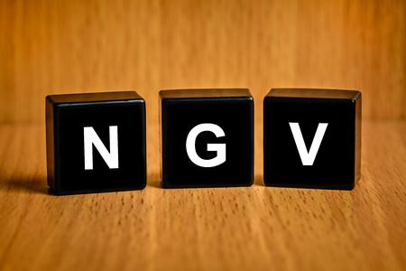 ngv: NGV or natural gas vehicle text on black block Stock Photo