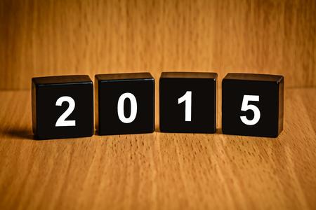 black block: texto nuevo a�o 2015 en el bloque negro