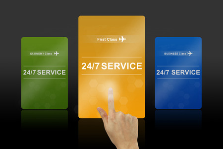 24 hours a day and 7 days a week service first class card photo