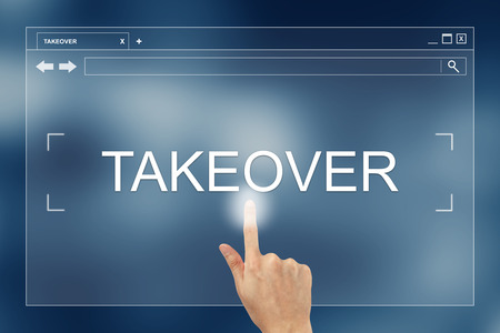 takeover: hand press on takeover button on webpage
