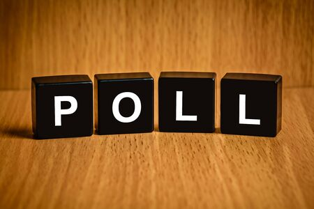 list of successful candidates: Poll or vote text on black block