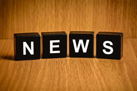 black block: texto de la noticia en el bloque negro, concepto de negocio