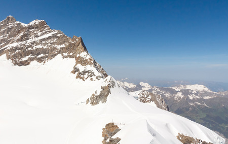 jungfrau: Swiss Alps mountain landscape, Jungfrau, Switzerland with copy space Stock Photo